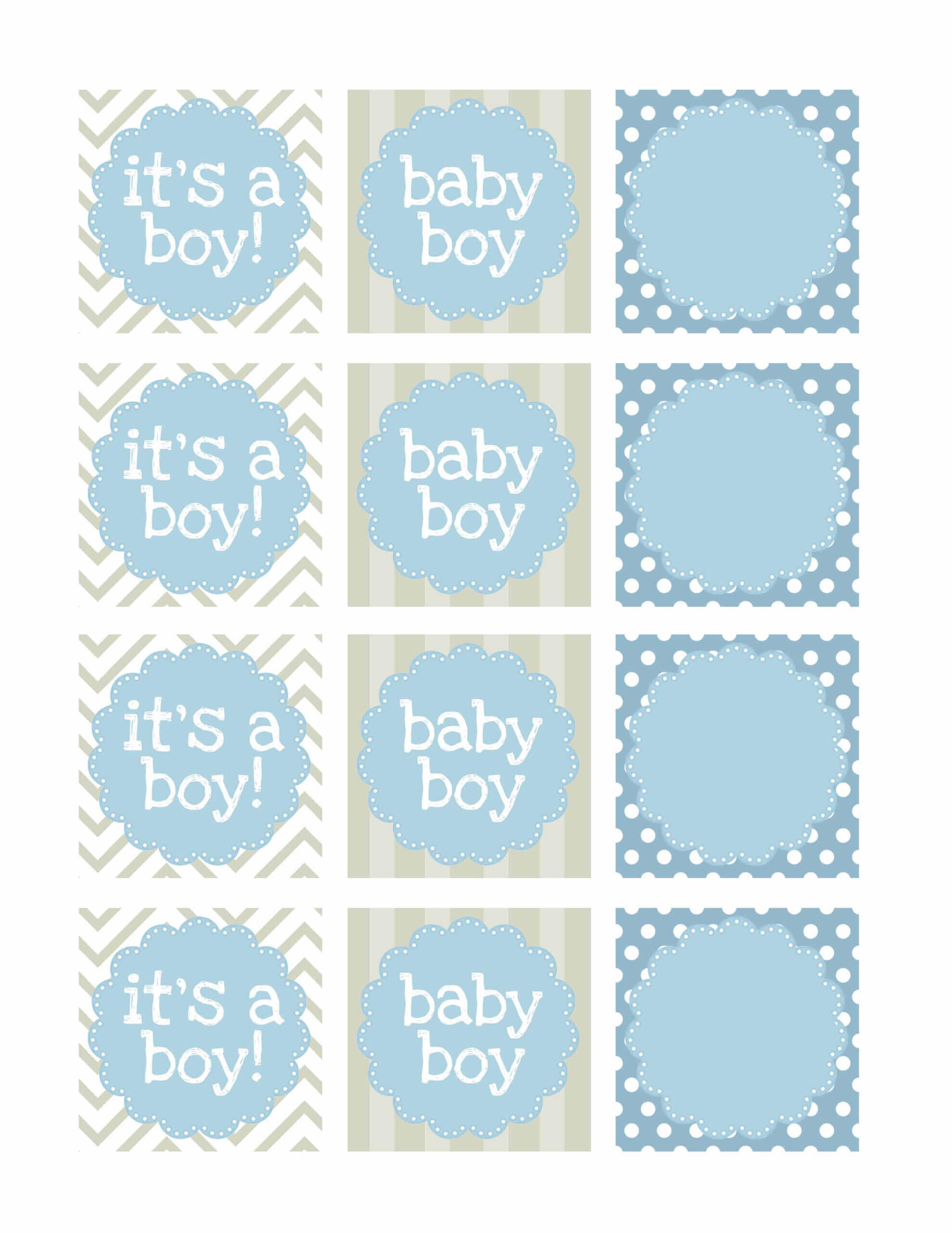 038 Free Printable Water Bottle Label Template Baby Shower Pertaining To Baby Shower Label Template For Favors