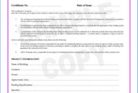 038 Template Ideas Certificate Of Final Completion Form For throughout Certificate Of Inspection Template
