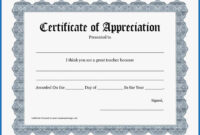 039 Certificate Of Appreciation Template Word Doc Free Ideas regarding Certificate Of Appreciation Template Free Printable