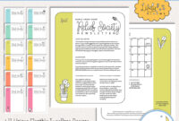 039 Hrotm Lively Blooms Rs Newsletters Etsy Previews 1 For in Blank Food Web Template