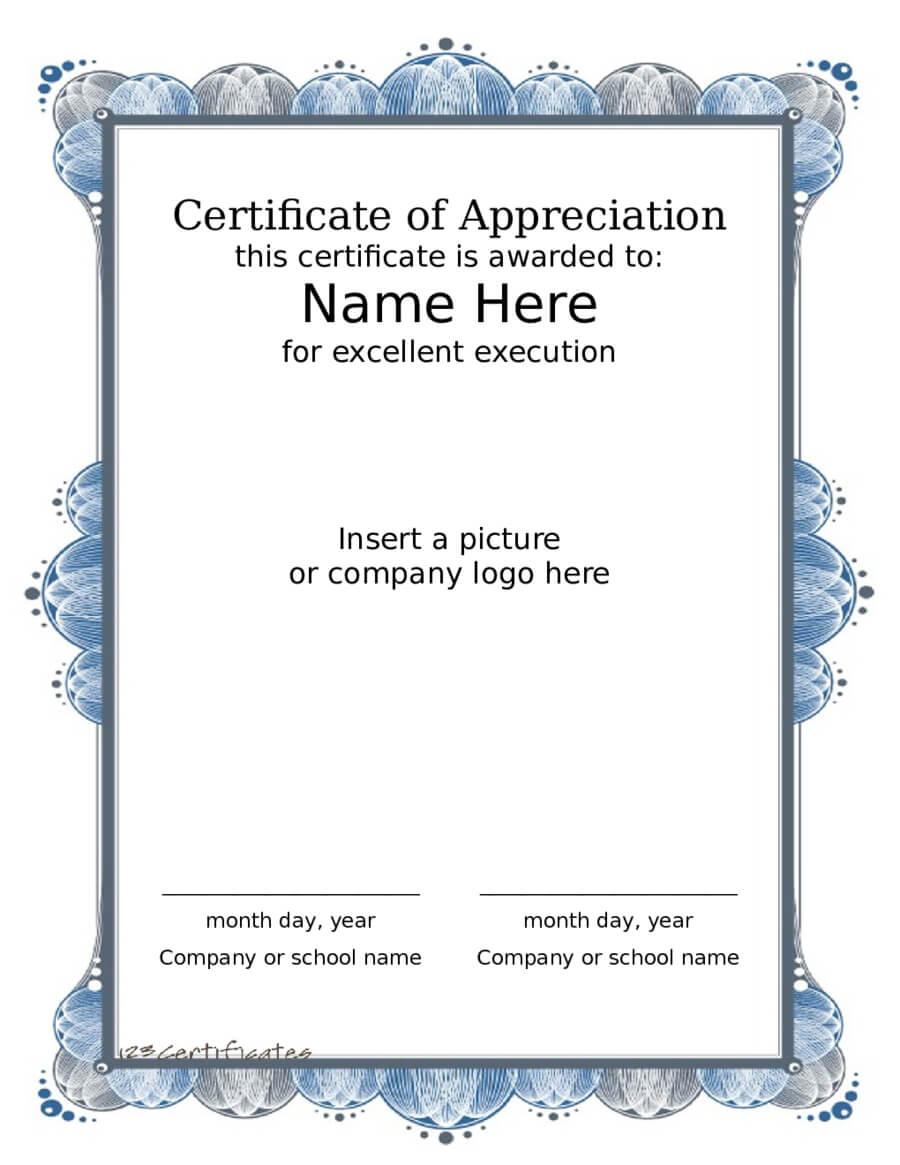 040 Certificate Of Appreciation Format Pdf Award Within Certificate Of Participation Template Pdf