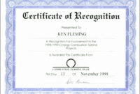 040 Certificate Of Recognition Template Word Marvelous pertaining to Certificate Of Recognition Word Template