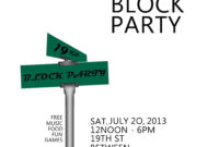 041 Template Ideas Neighborhood Block Party Flyer 115153 inside Block Party Template Flyers Free