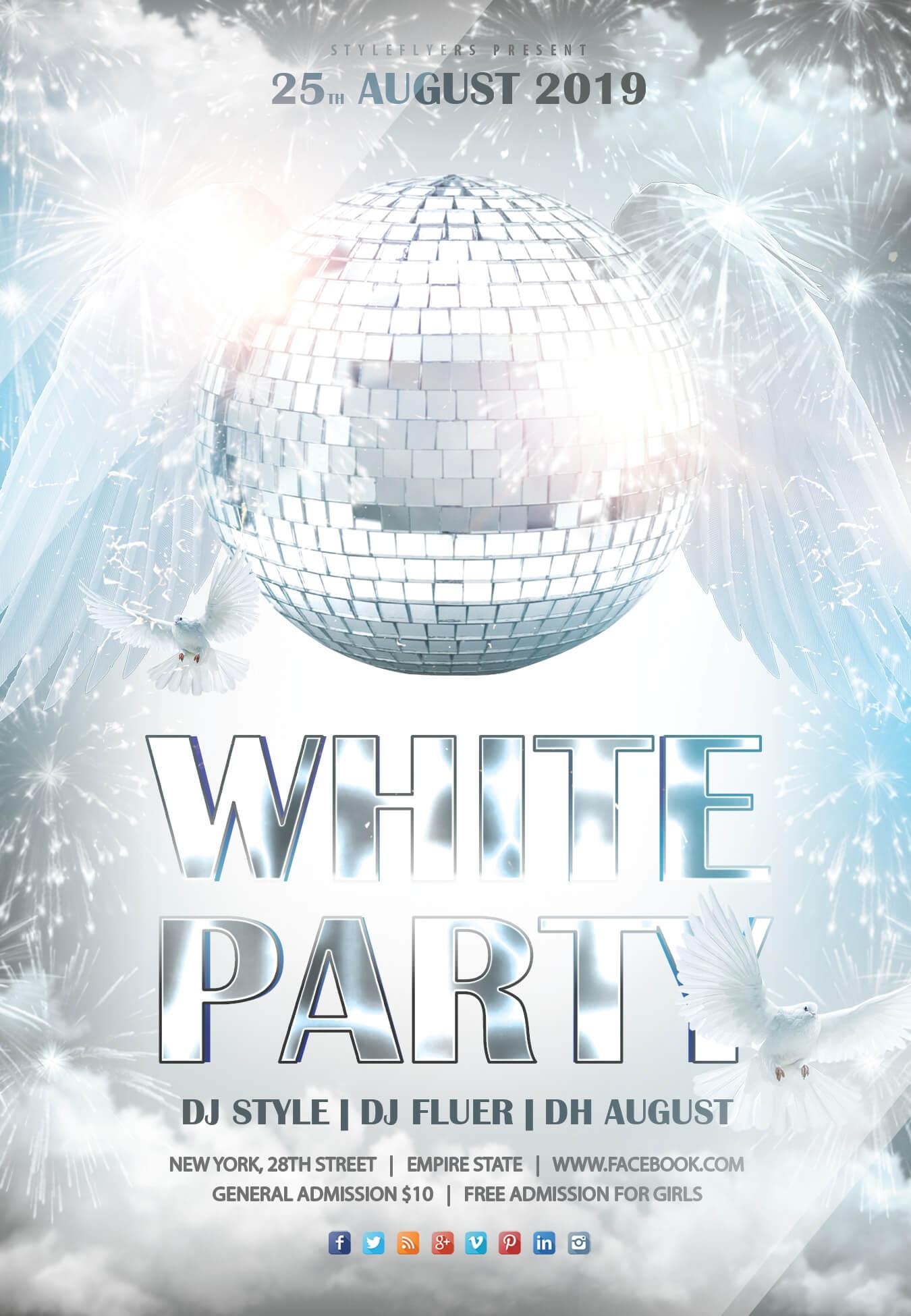 042 White Party Min Template Ideas Free Birthday Flyer With Regard To All White Party Flyer Template Free