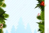 043 Christmas Card Template Fir Trees Decorations Word Menu regarding Blank Christmas Card Templates Free