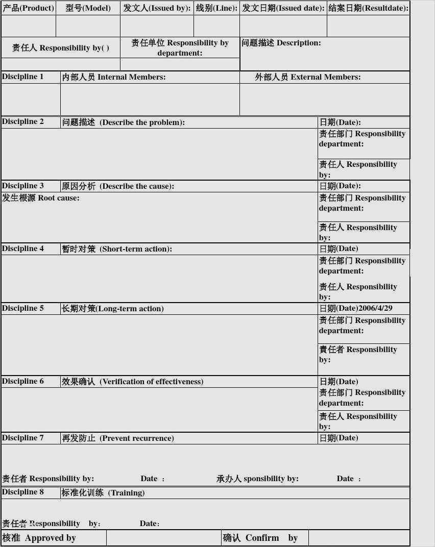 080755C 8D Report Template   Wiring Resources Within 8D Report Format Template