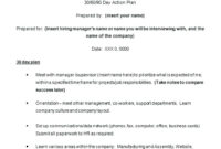 10+ 30 60 90 Day Business Plan For Sales Managers within 90 Day Business Plan Template