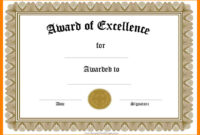 10+ Awards Certificate Template Word | Time Table Chart throughout Award Of Excellence Certificate Template