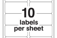 10-Up Blank Shipping Labels (Avery 8163 Template) intended for 10 Up Label Template