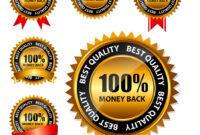 100 Money Back Gold Sign Label Template in Adobe Illustrator Label Template