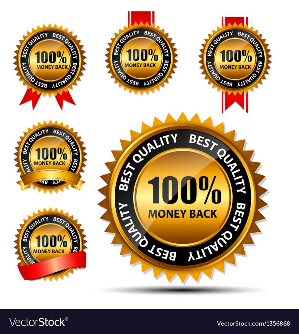 100 Money Back Gold Sign Label Template In Adobe Illustrator Label Template
