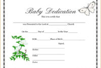 10E2D7 Baby Dedication Certificates C Template Business regarding Baby Dedication Certificate Template
