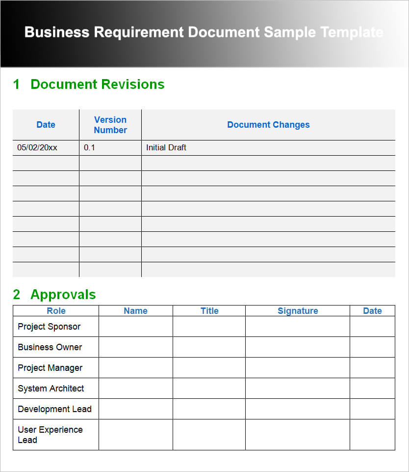 11+ Business Requirements Documents Free Pdf, Excel Templates Intended For Business Requirements Document Template Pdf