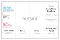 "11"" X 17"" Barrel Fold Brochure Template – U.s. Press for 4 Panel Brochure Template"