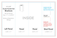 """11"""" X 17"""" Double Parallel Brochure Template – U.s. Press intended for 4 Fold Brochure Template"""