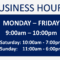 11A Business Hours Sign Template | Wiring Resources Intended For Business Hours Template Word