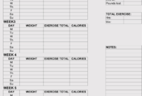 12+ Blank Workout Log Sheet Templates To Track Your Progress within Blank Workout Schedule Template