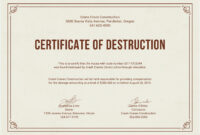 12 Certificate Of Destruction Template   Resume Letter with regard to Certificate Of Destruction Template