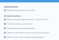 12 Great Nps Survey Question And Response Templates (2018 intended for Business Process Questionnaire Template