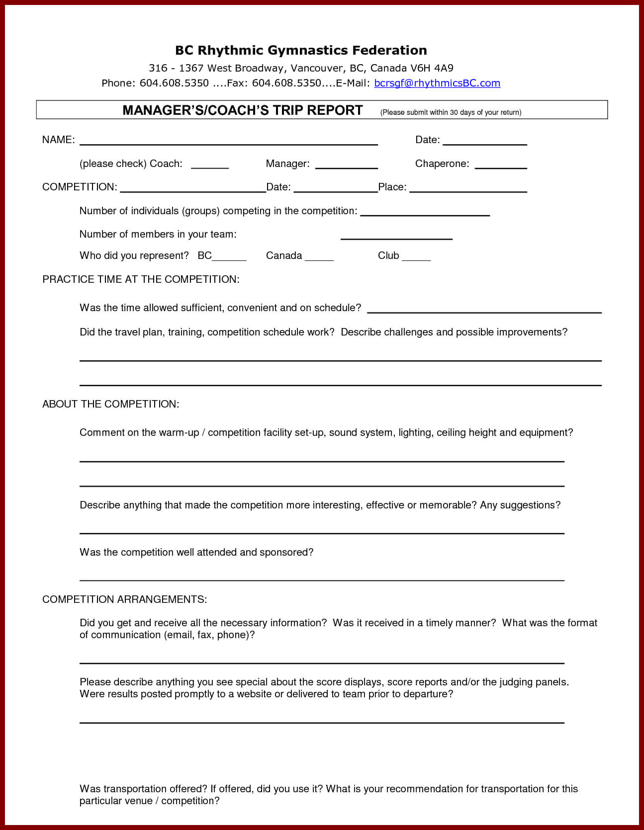 13 + Business Trip Report Examples - Pdf, Word, Apple Pages Inside Business Trip Report Template