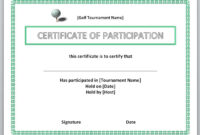 13 Free Certificate Templates For Word » Officetemplate for Certificate Of Participation Word Template