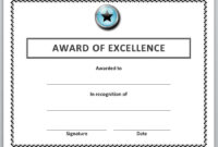 13 Free Certificate Templates For Word » Officetemplate throughout Best Employee Award Certificate Templates