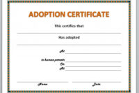 13 Free Certificate Templates For Word » Officetemplate throughout Child Adoption Certificate Template