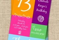 13Th Birthday Invitations Templates Free in 13 Birthday Invitation Templates