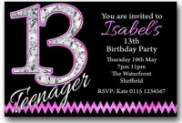 13Th Birthday Party Invitation Templates with 13 Birthday Invitation Templates