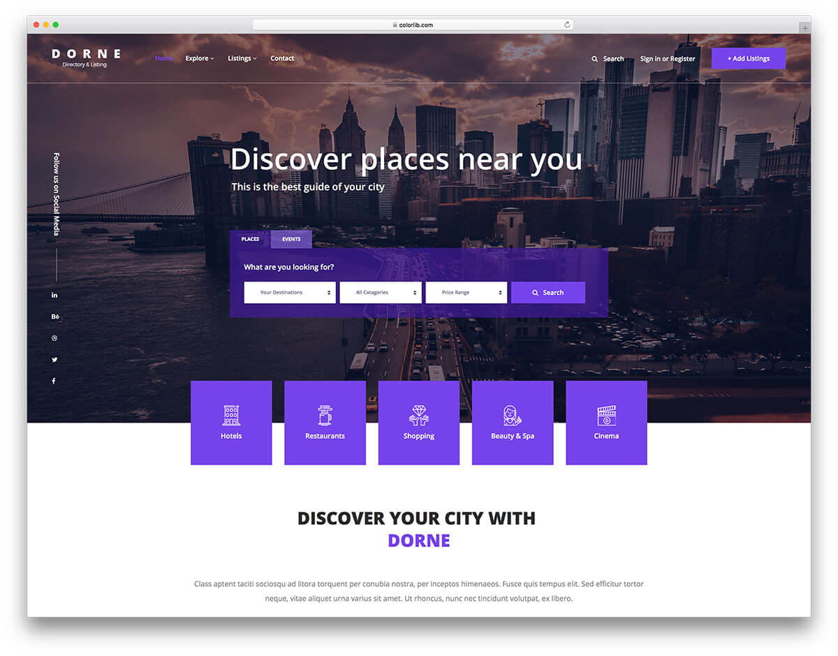 14 Best Free Directory Website Templates 2019 - Colorlib Regarding Business Listing Website Template