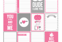 14 Days Of Free Valentine's Printables Day 6 | Misstiina within 52 Reasons Why I Love You Cards Templates Free