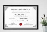 16+ Birth Certificate Templates   Smartcolorlib inside Blank Adoption Certificate Template