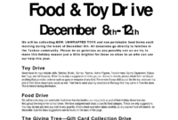 16 Food Drive Flyer Template Free Images – Food Drive Flyer with Canned Food Drive Flyer Template