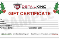 16 Personalized Auto Detailing Gift Certificate Templates regarding Automotive Gift Certificate Template