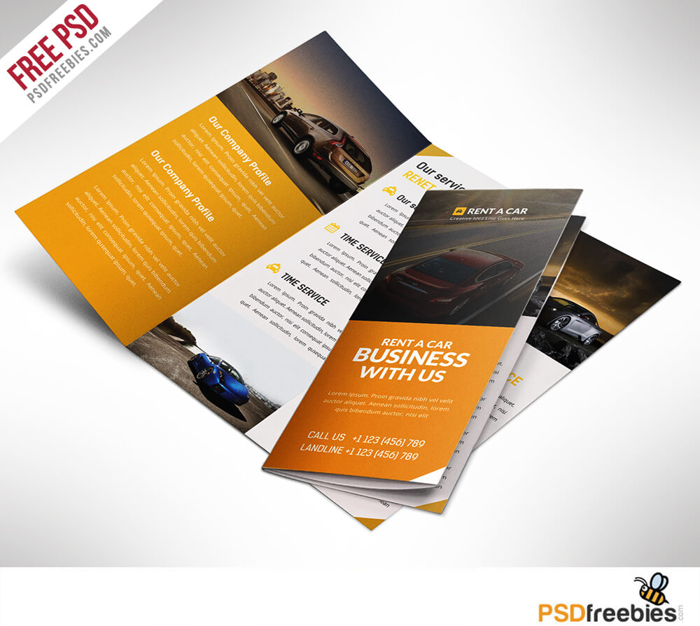 16 Tri Fold Brochure Free Psd Templates: Grab, Edit & Print For 3 Fold Brochure Template Psd Free Download