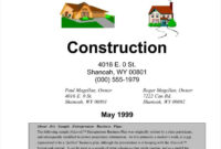 17+ Contractor Letterhead Templates – Word, Pdf | Free within Builders Letterhead Template