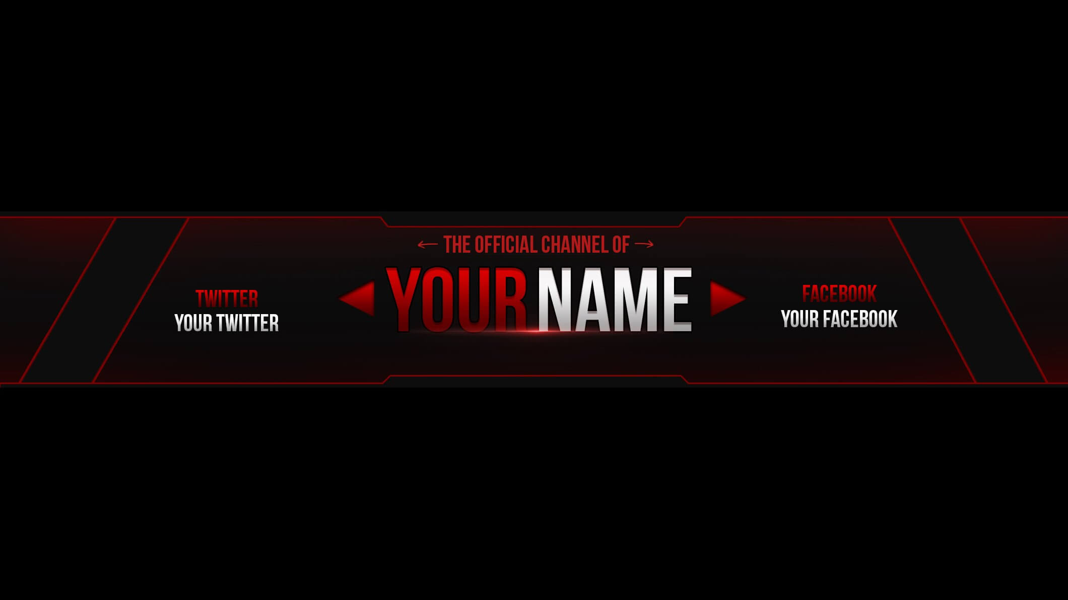 18 Images Of Empty Youtube Banner Template   Splinket Intended For Banner Template For Photoshop