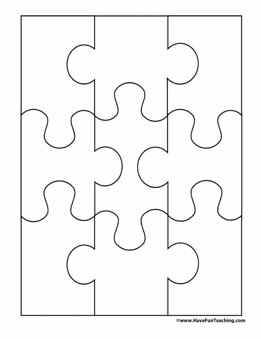 19 Printable Puzzle Piece Templates ᐅ Template Lab Intended For Blank Jigsaw Piece Template