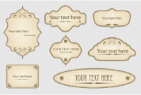 19 Retro Label Template Images – Free Vintage Tag Label pertaining to Antique Labels Template