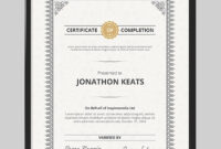 20 Best Word Certificate Template Designs To Award in Certificate Of Achievement Template Word