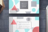 20 Creative Business Card Templates – Psd, Ai & Eps Download intended for 8 5X 11 Business Card Template