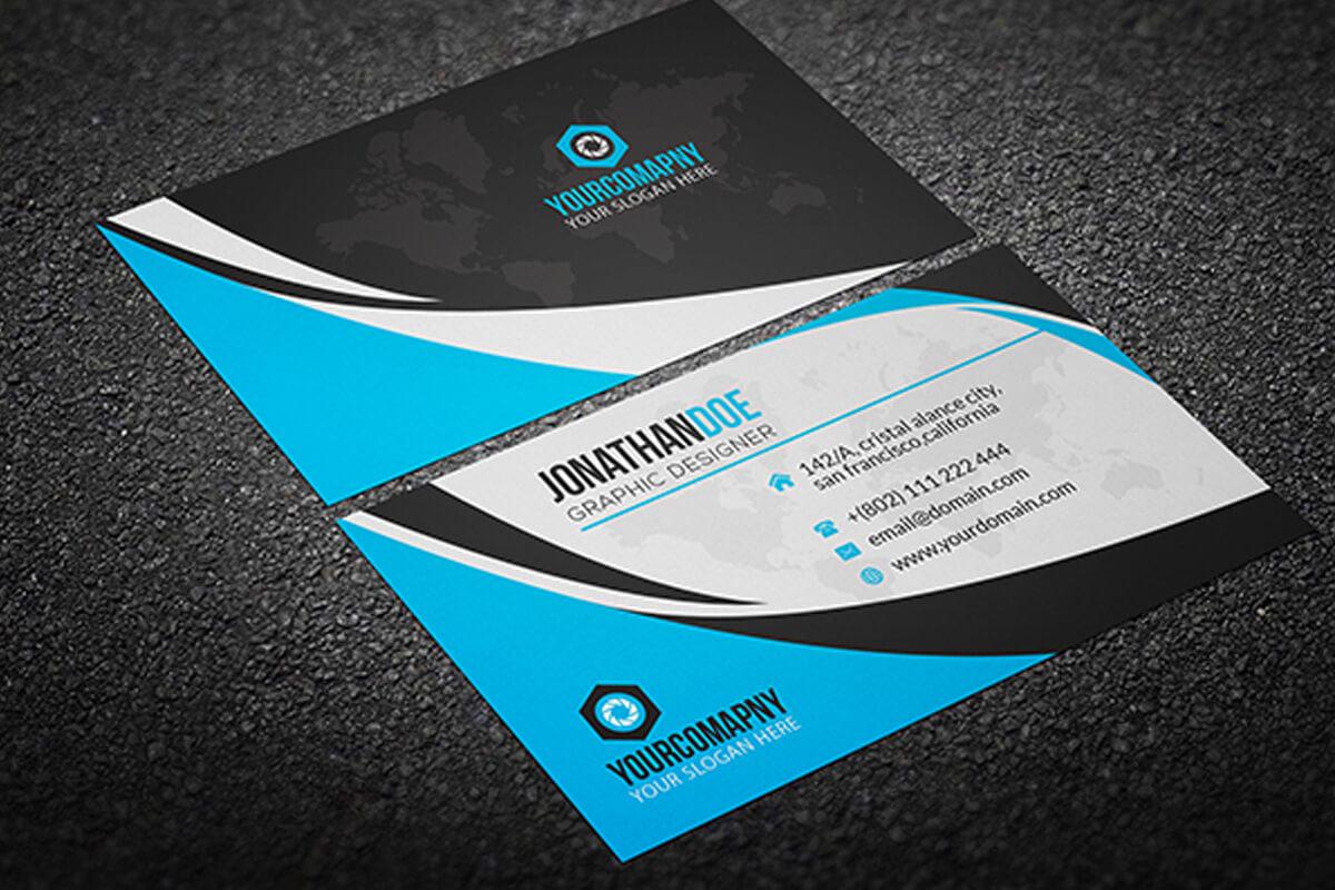 200 Free Business Cards Psd Templates - Creativetacos Regarding Calling Card Template Psd