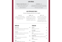 2020 Menu Template – Fillable, Printable Pdf & Forms | Handypdf pertaining to Breakfast Menu Template Word