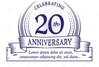 20Th Anniversary Design Template. 20 Years Logo. Twenty throughout Anniversary Certificate Template Free