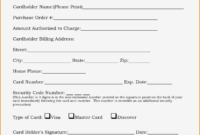 21+ Credit Card Authorization Form Template Pdf Fillable 2019!! inside Authorization To Charge Credit Card Template