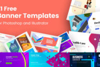 21 Free Banner Templates For Photoshop And Illustrator with Animated Banner Template