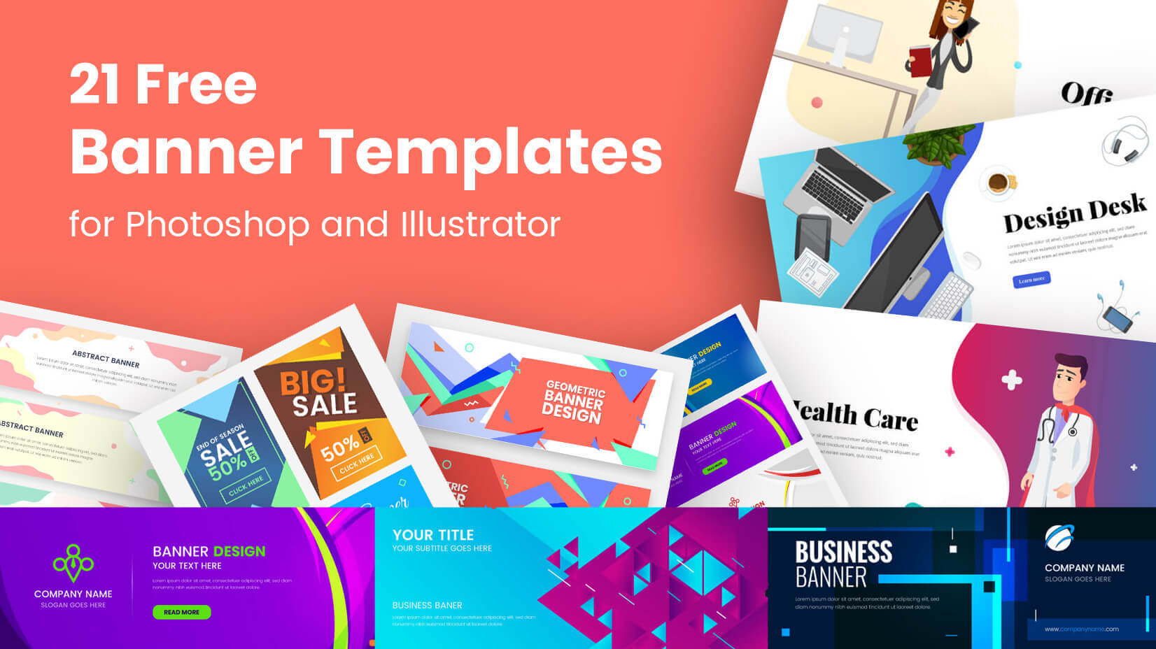 21 Free Banner Templates For Photoshop And Illustrator With Banner Template For Photoshop