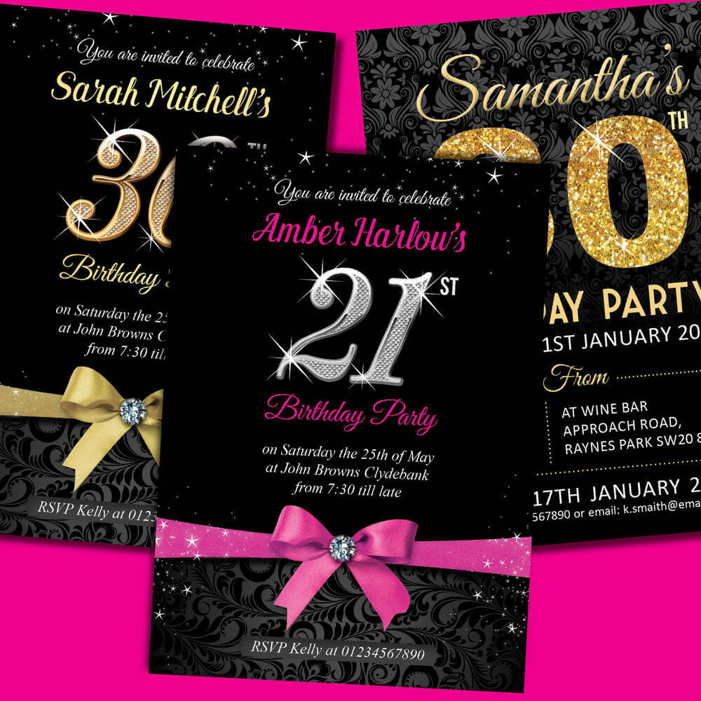 21St Birthday Invitations Free Download Inside 21St Birthday Invitation Template