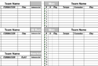 22 Images Of Blank Football Scouting Template Pdf | Gieday intended for Blank Football Depth Chart Template