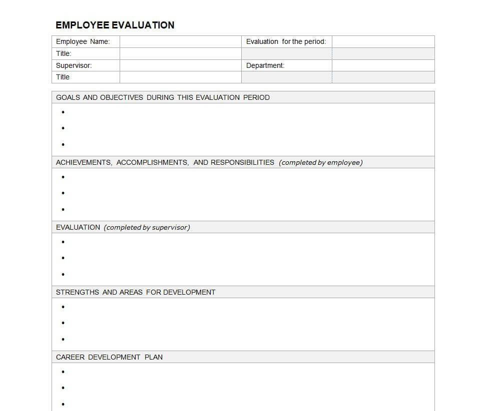 23 Images Of Evaluation Outline Template Blank | Masorler Inside Blank Evaluation Form Template